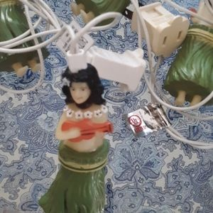 Holiday - VINTAGE HULA GIRL XMAS LIGHTS